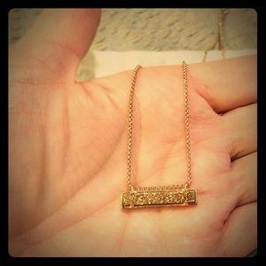 Kendra Scott rose goldtone druzzy necklace